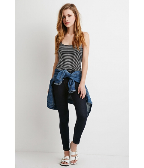 Imbracaminte Femei Forever21 Low-Rise Ankle Skinny Jeans Indigo