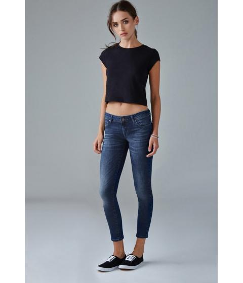 Imbracaminte Femei Forever21 Low-Rise Skinny Ankle Jeans Dark denim