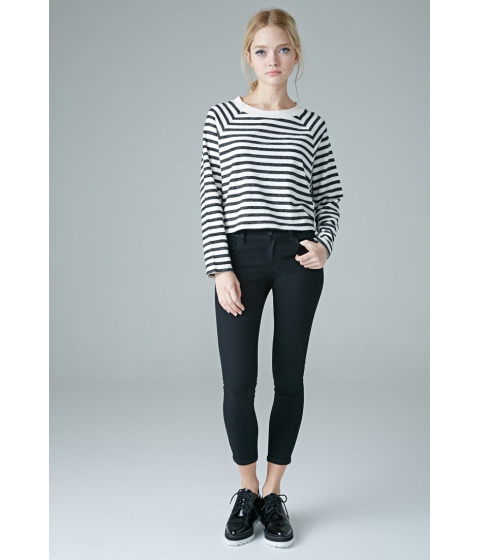 Imbracaminte Femei Forever21 The Beverly Low Rise Jean Black