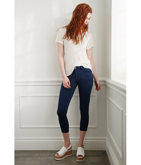 Imbracaminte Femei Forever21 The Beverly Low Rise Jean Blue