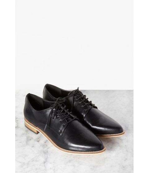 Incaltaminte Femei Forever21 Faux Leather Pointed-Toe Oxfords Black
