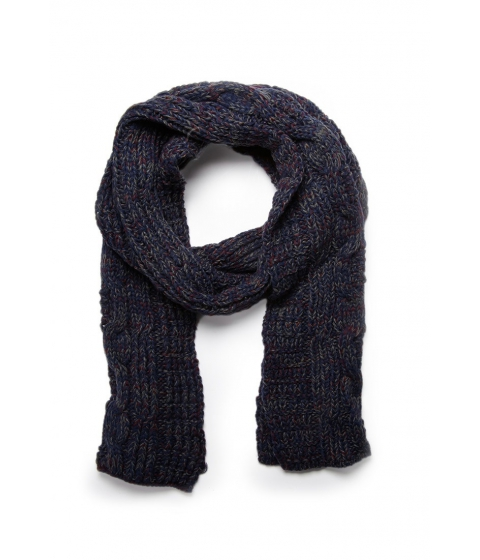 Accesorii Barbati Forever21 Marled Cable Knit Scarf Navy
