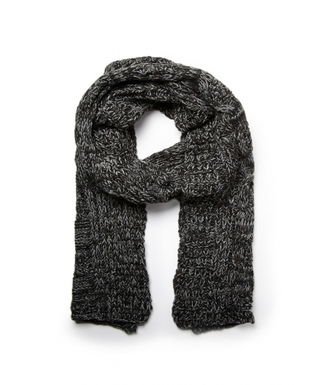 Accesorii Barbati Forever21 Marled Cable Knit Scarf Black
