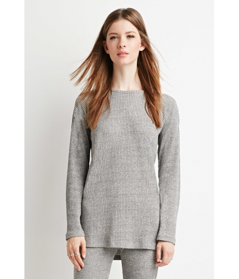Imbracaminte Femei Forever21 Marled-Knit Ribbed Top Grey