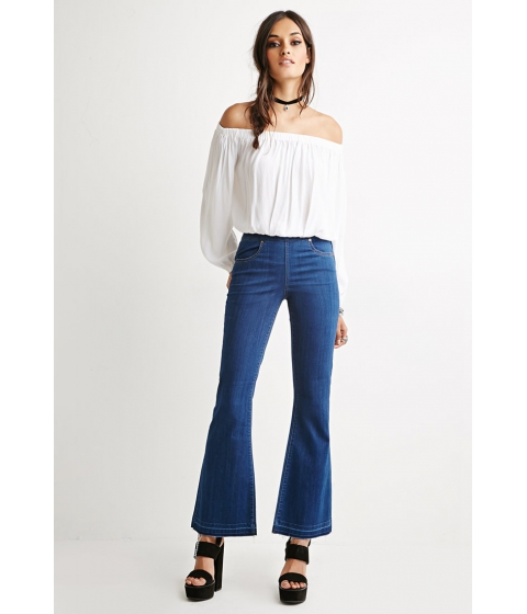 Imbracaminte Femei Forever21 Fray Flared Jeans Denim