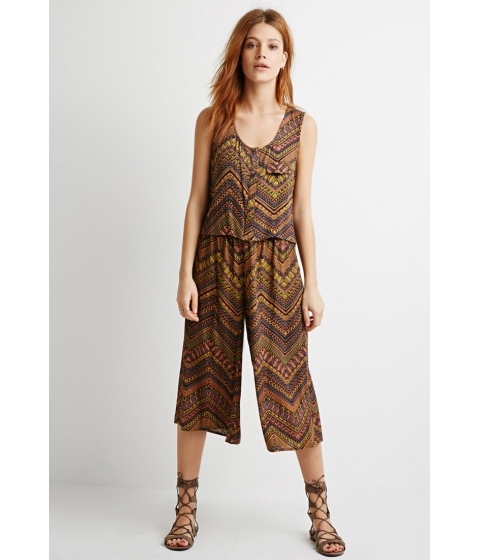 Imbracaminte Femei Forever21 Contemporary Abstract Chevron Print Top Rustcharcoal