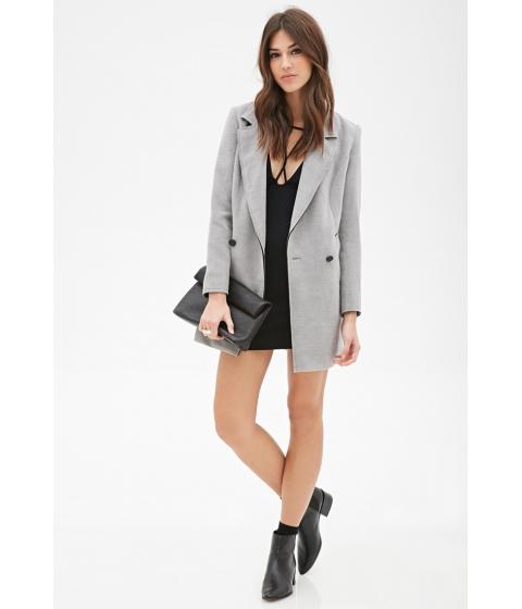 Imbracaminte Femei Forever21 Oversized Longline Overcoat Grey
