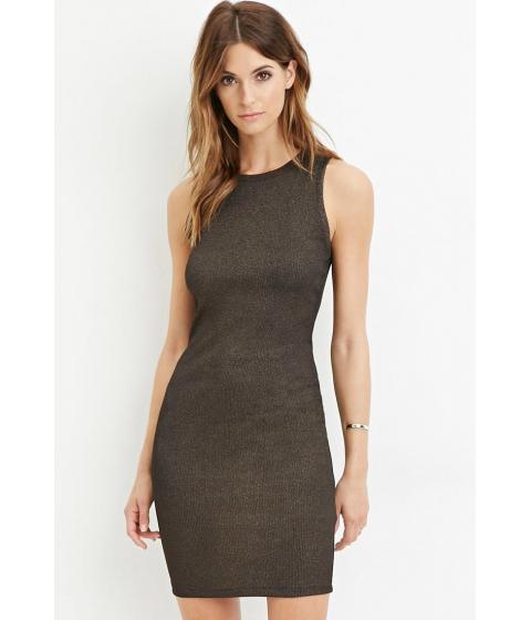Imbracaminte Femei Forever21 Contemporary Metallic Knit Dress Copper