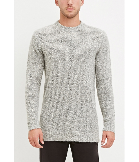 Imbracaminte Barbati Forever21 Textured Loop-Knit Sweater Grey