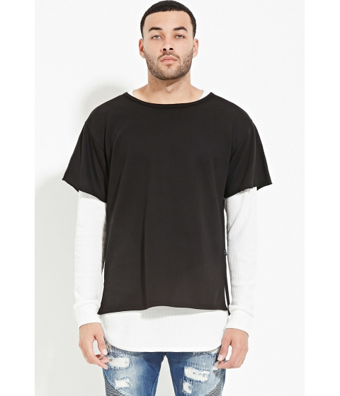 Imbracaminte Barbati Forever21 EPTM French Terry Tee Black