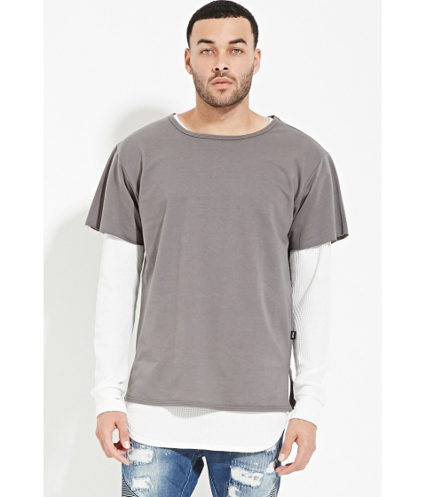 Imbracaminte Barbati Forever21 EPTM French Terry Tee Grey