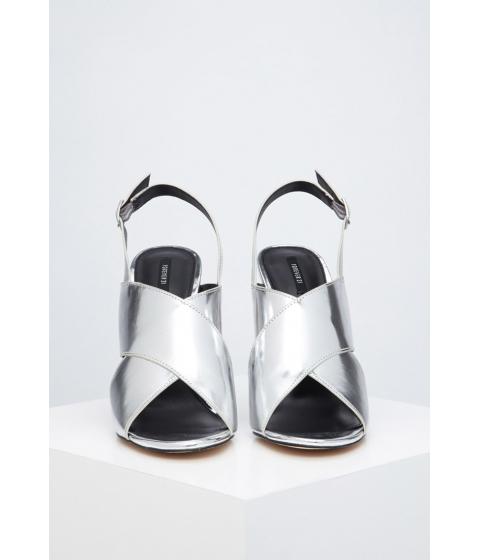 Incaltaminte Femei Forever21 Metallic Crisscross Stiletto Sandals Silver