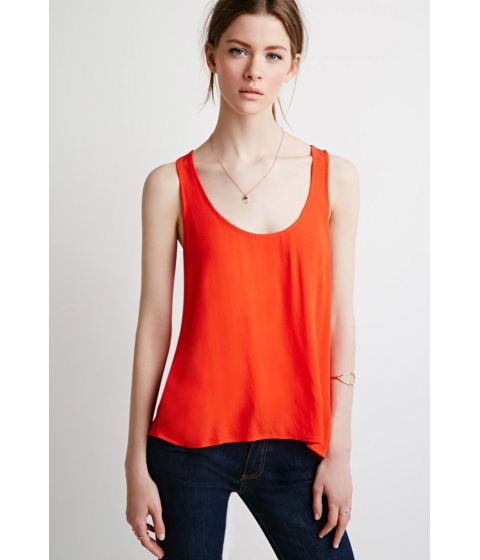 Imbracaminte Femei Forever21 Contemporary Layered Sleeveless Top Red