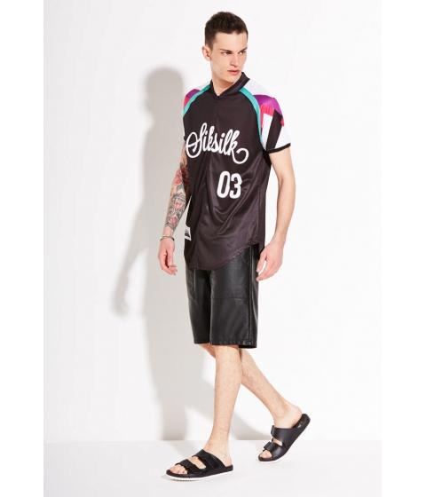 Imbracaminte Barbati Forever21 SIK SILK Baseball Shirt Blackmulti