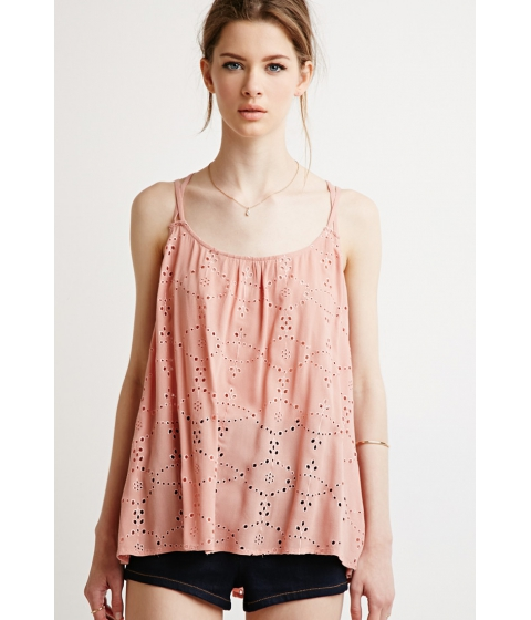 Imbracaminte Femei Forever21 Contemporary Eyelet Strappy Cami Amber