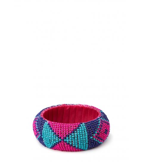 Imbracaminte Femei Forever21 Bold Beaded Bangle Hot pinkpurple