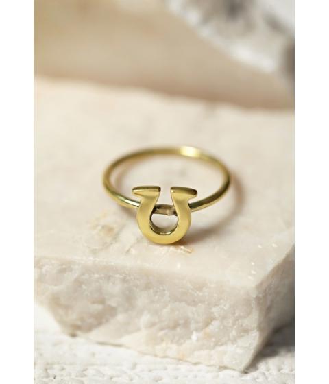 Bijuterii Femei Forever21 Sunahara Horseshoe Lucky Charm Ring Gold