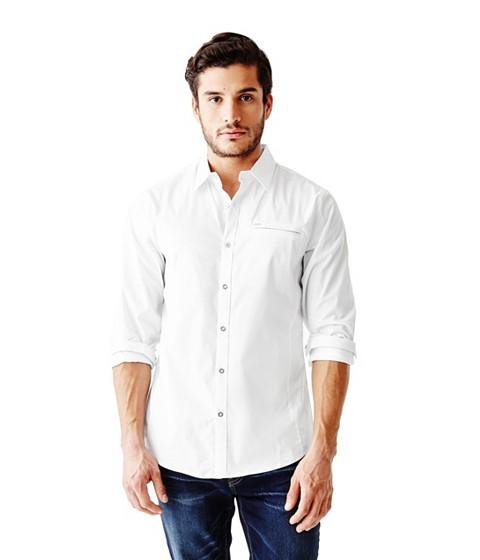 Imbracaminte Barbati GUESS Cowan Slim-Fit Shirt true white
