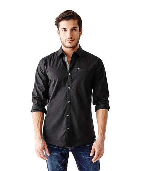 Imbracaminte Barbati GUESS Cowan Slim-Fit Shirt jet black