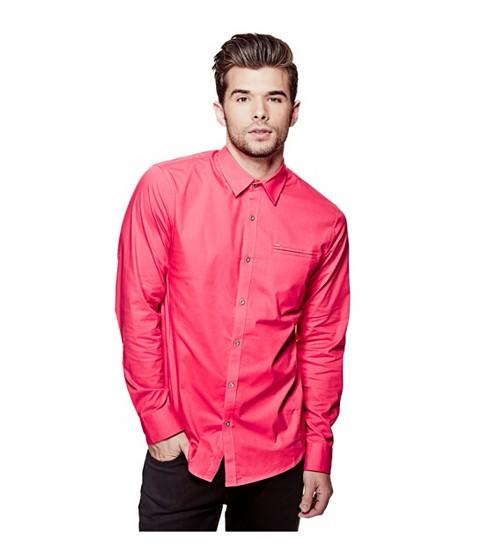 Imbracaminte Barbati GUESS Cowan Slim-Fit Shirt summer love pink