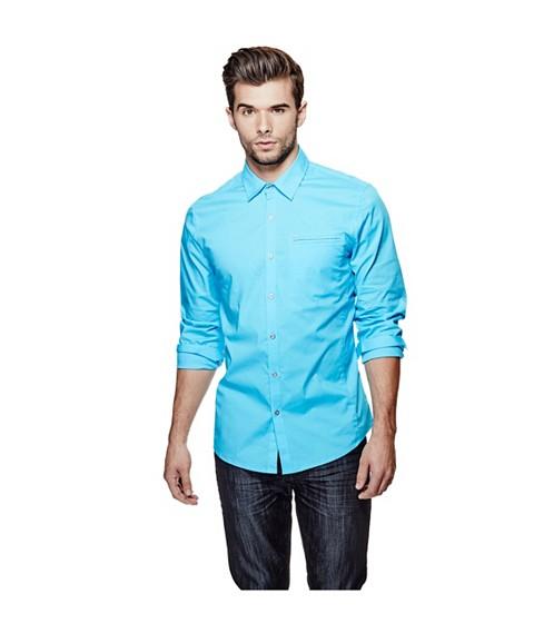 Imbracaminte Barbati GUESS Cowan Slim-Fit Shirt river blue