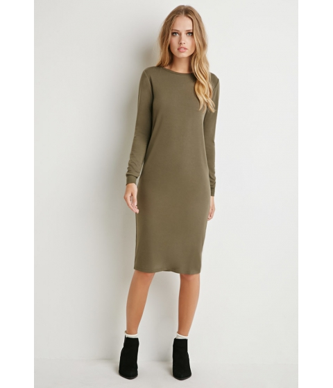 Imbracaminte Femei Forever21 Classic Midi Dress Olive