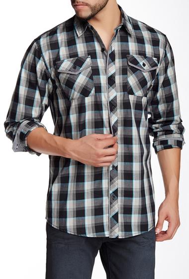 Imbracaminte Barbati Burnside Plaid Long Sleeve Regular Fit Shirt Black