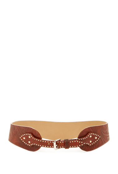 Accesorii Femei Streets Ahead Western Inspired Tooled Genuine Leather Belt Cognac