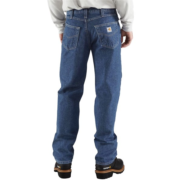 Imbracaminte Barbati Carhartt FR Flame-Resistant Utility Jeans - Relaxed Fit MIDSTONE (01)