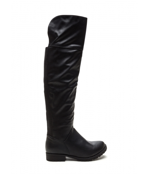 Incaltaminte Femei CheapChic Ground Up Faux Leather Boots Black