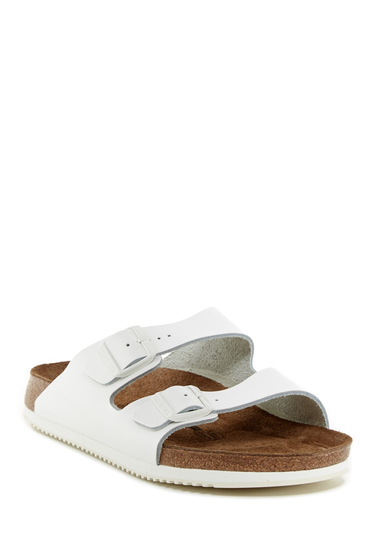 Incaltaminte Barbati Birkenstock Arizona Soft Footbed Sandal - Narrow Width WHITE