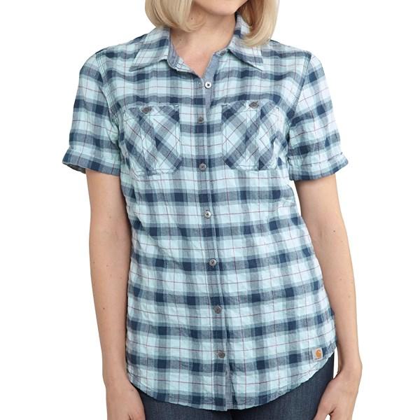 Imbracaminte Femei Carhartt Brogan Shirt - Short Sleeve ETHER (02)