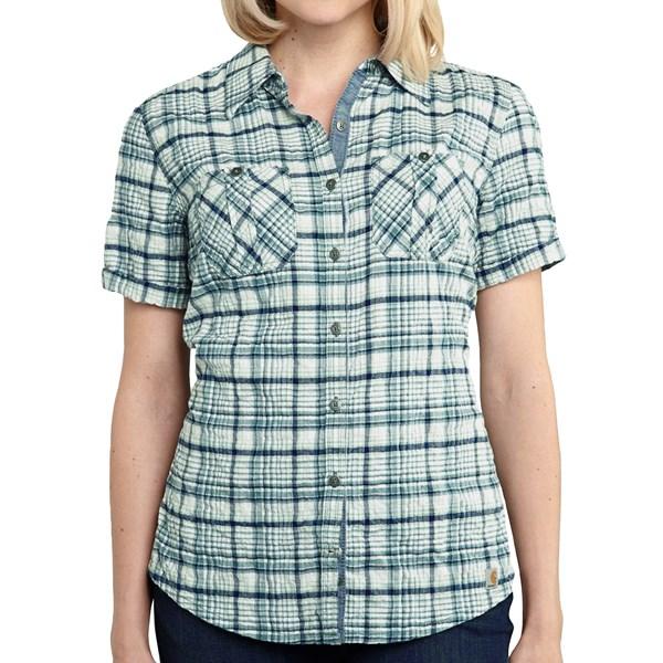 Imbracaminte Femei Carhartt Brogan Shirt - Short Sleeve GREEN LILY (01)