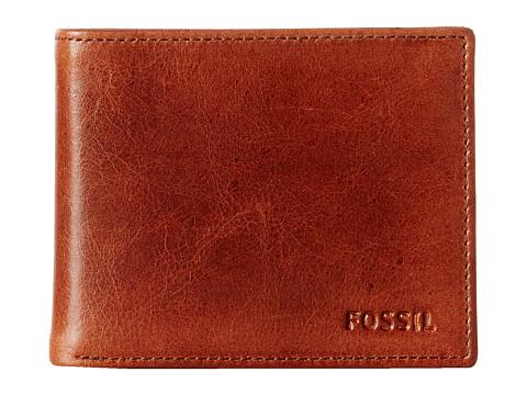 Genti Barbati Fossil Bifold Wallet Card Case Brown