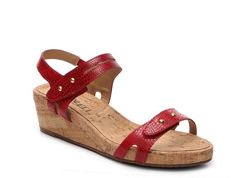 Incaltaminte Femei Vaneli Kinna Wedge Sandal Red