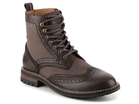 Incaltaminte Barbati Tommy Hilfiger Hartman Wingtip Boot Brown
