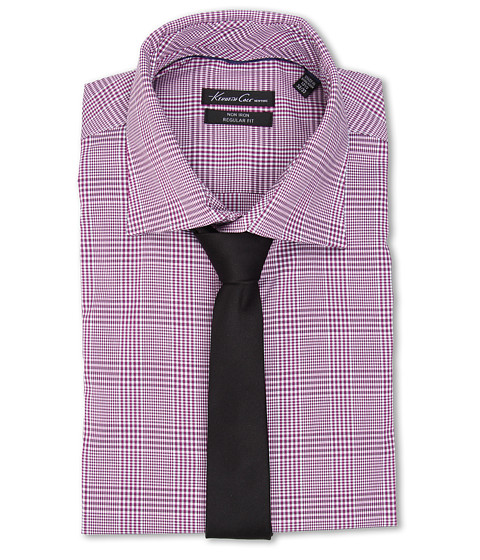 Imbracaminte Barbati Kenneth Cole Regular Fit Non-Iron Plaid Fuchsia