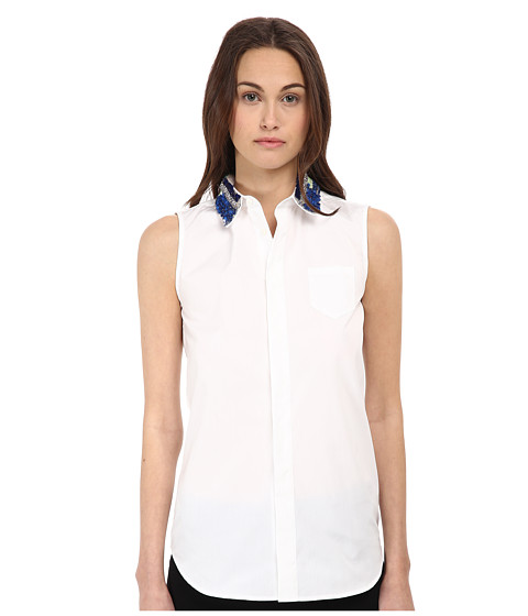 Imbracaminte Femei DSQUARED2 Elinor Sleeveless Boxy Shirt WhiteGrey