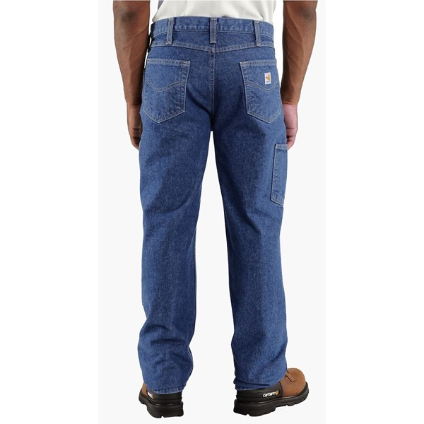 Imbracaminte Barbati Carhartt Flame-Resistant Utility Denim Jeans - Double Front MIDSTONE (01)
