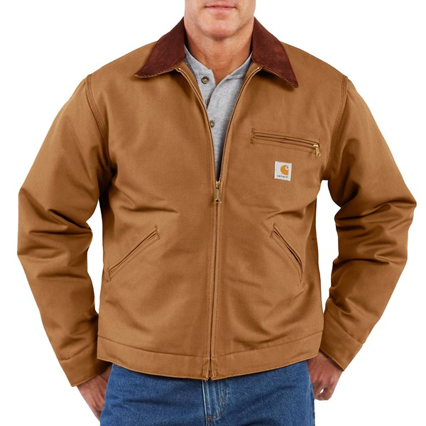 Imbracaminte Barbati Carhartt Detroit Duck Blanket-Lined Jacket CARHARTT BROWN (02)