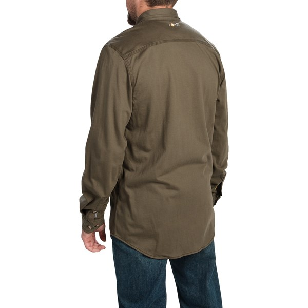 Imbracaminte Barbati Carhartt Flame-Resistant Force Shirt - Long Sleeve (For Big and Tall Men) SAND (01)