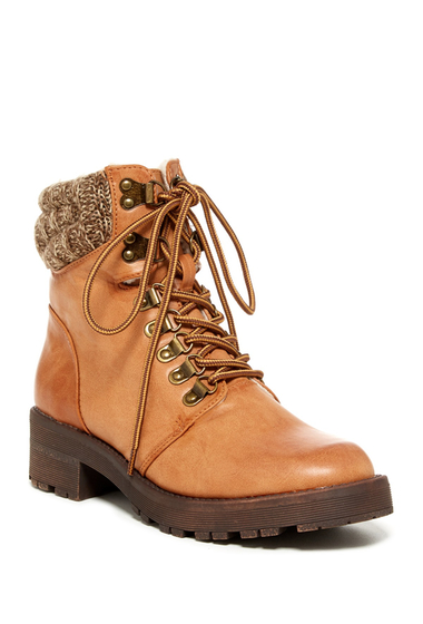 Incaltaminte Femei MIA Maylynn Faux Shearling Lined Hiking Boot TAN
