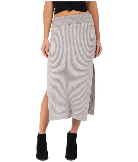 Imbracaminte Femei Free People Felix Rib Maxi Skirt Light Grey