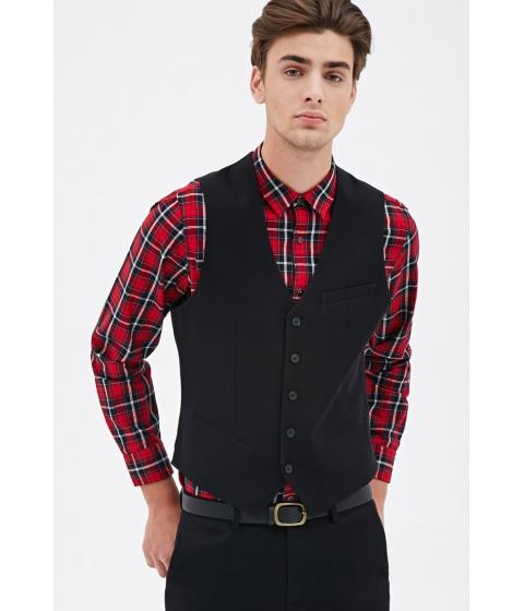 Imbracaminte Barbati Forever21 Satin-Back Suit Vest Black