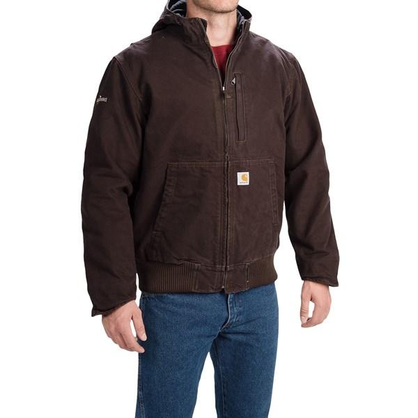 Imbracaminte Barbati Carhartt Full Swing Sandstone Active Jacket DARK BROWN (02)