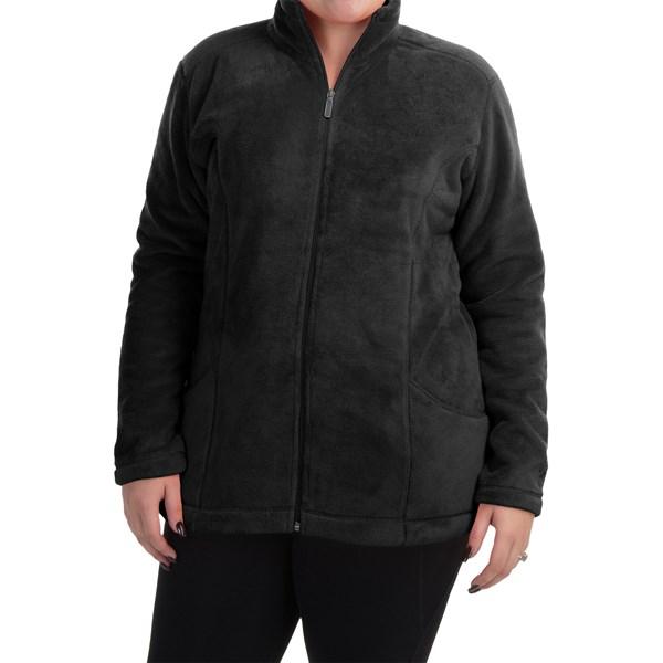 Imbracaminte Femei White Sierra Cozy Fleece Jacket (For Plus Size Women) BLACK (01)