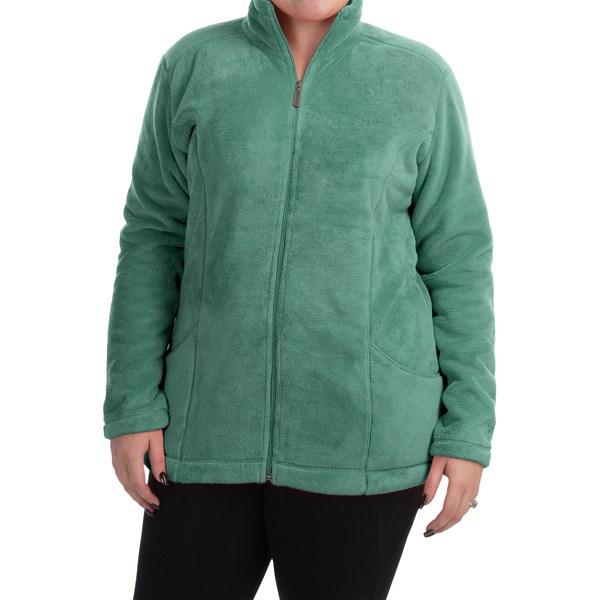 Imbracaminte Femei White Sierra Cozy Fleece Jacket (For Plus Size Women) SHASTA GREEN (02)