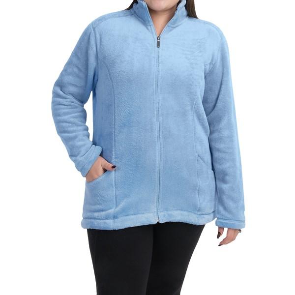 Imbracaminte Femei White Sierra Cozy Fleece Jacket (For Plus Size Women) POWDER BLUE (04)