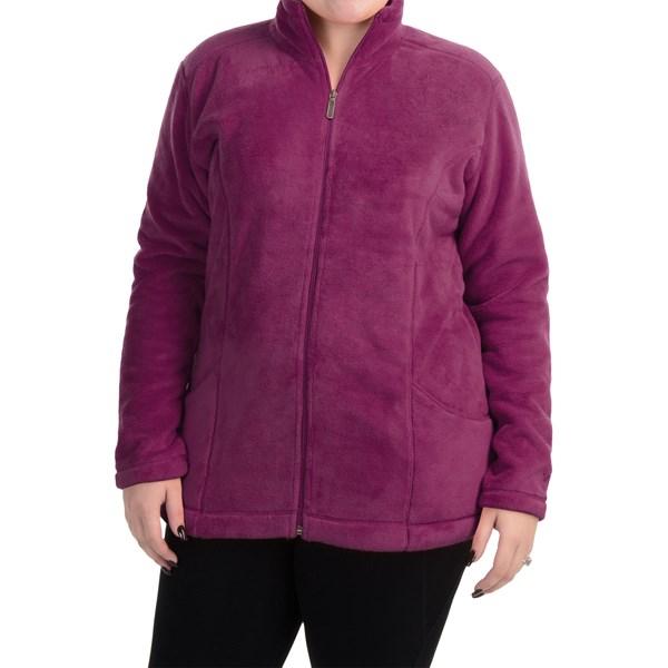 Imbracaminte Femei White Sierra Cozy Fleece Jacket (For Plus Size Women) CRUSHED GRAPE (06)