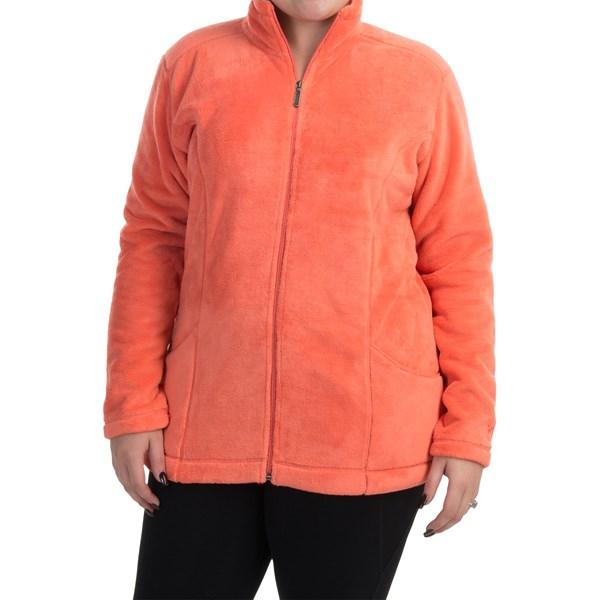 Imbracaminte Femei White Sierra Cozy Fleece Jacket (For Plus Size Women) DARK CORAL (05)